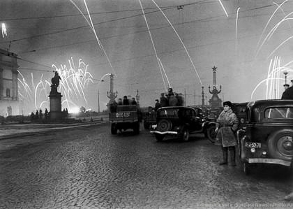 Салют 27 января 1944 года, в честь освобождения Ленинграда от блокады