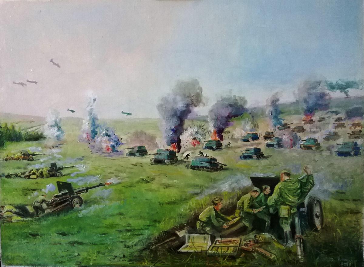 Выставка Анисимова: Бой под Прохоровкой