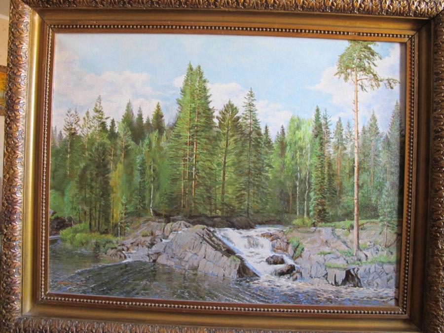 Выставка Анисимова: Карелия. Рускеальский водопад